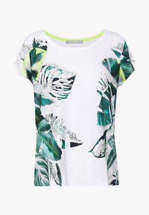MASSTAB - T-shirts med print - cream/mint