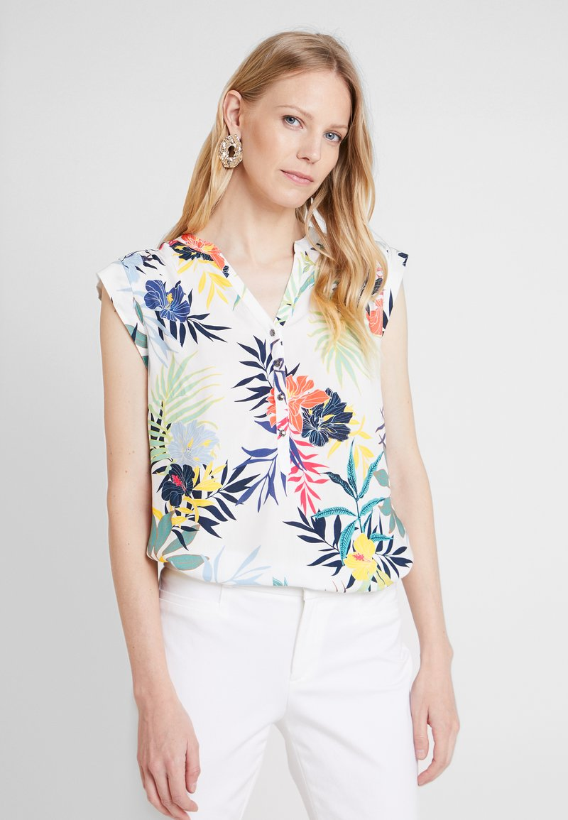 Betty & Co - Bluse - white/blue