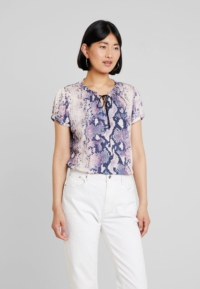 Blouse - blue/beige