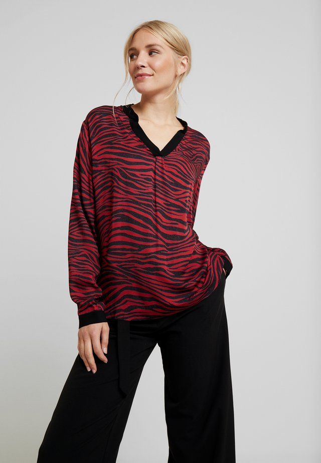 Blouse - red/black