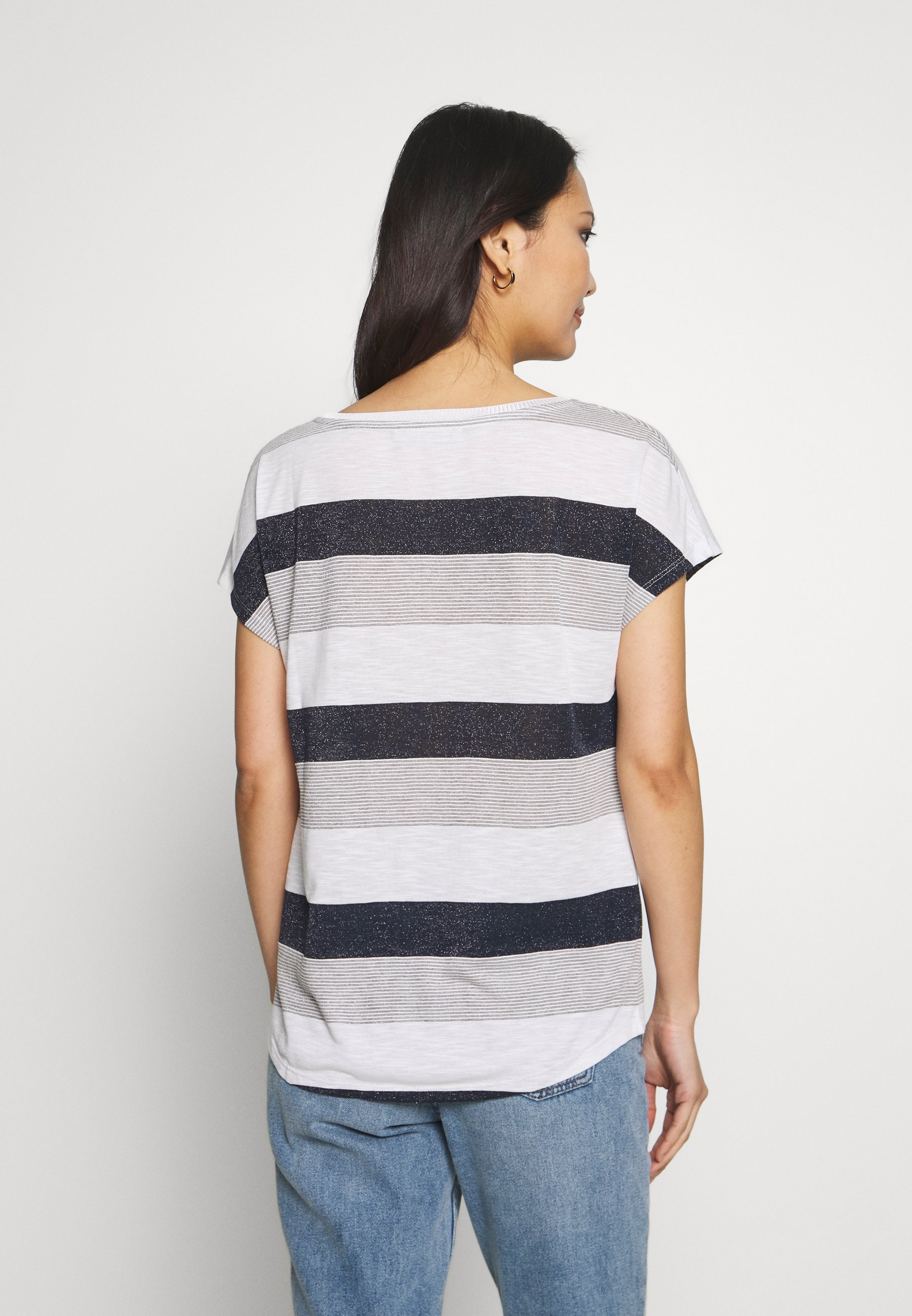 Betty & Co T-shirts med print - white/blue