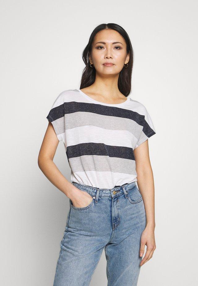 T-shirt med print - white/blue
