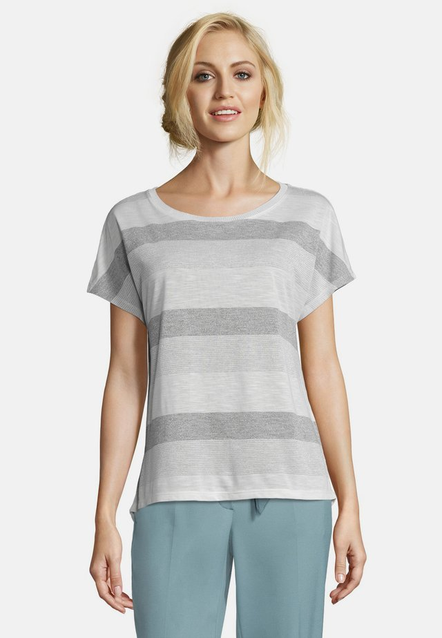 T-Shirt print - white/gray