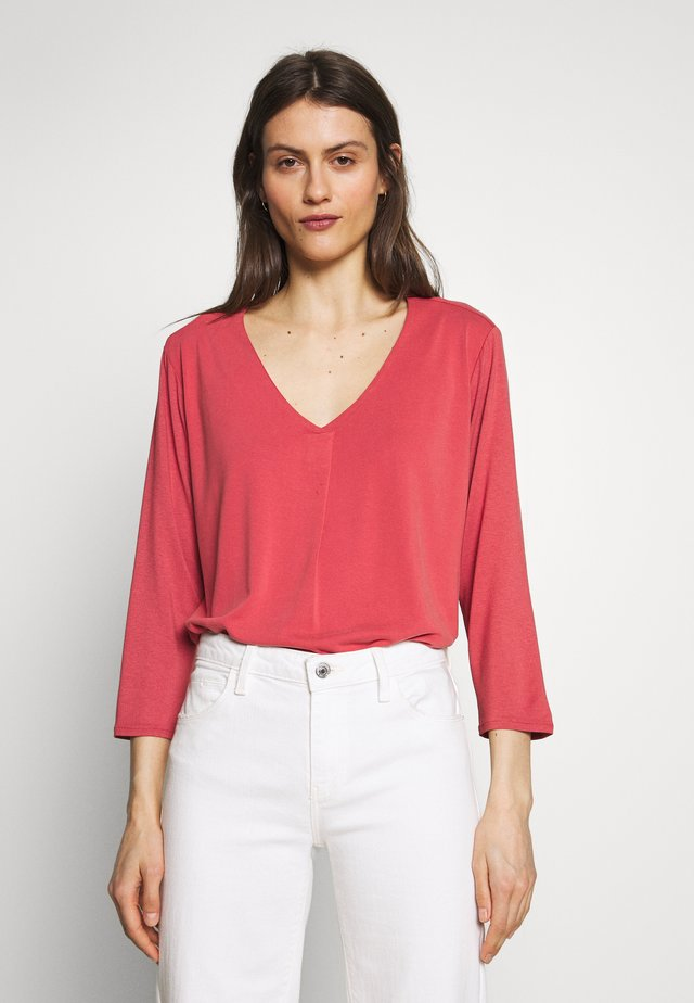 Langærmede T-shirts - cranberry