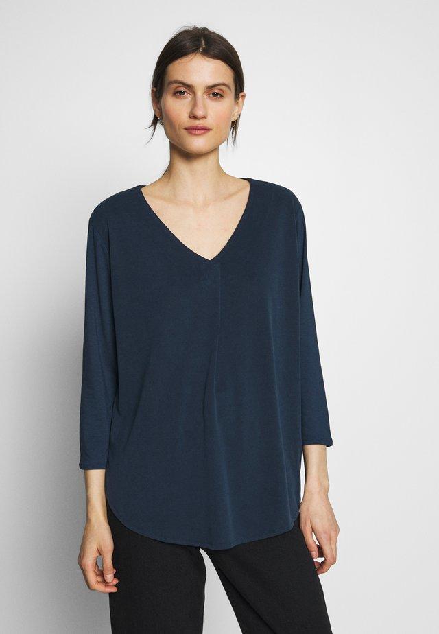 Langærmede T-shirts - navy blue