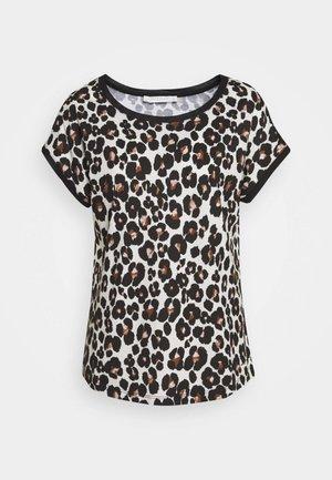 MASSTAB - T-shirt con stampa - brown/black