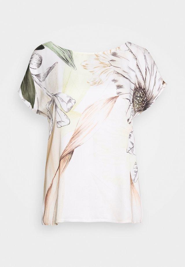 MASSTAB - Bluser - white/khaki