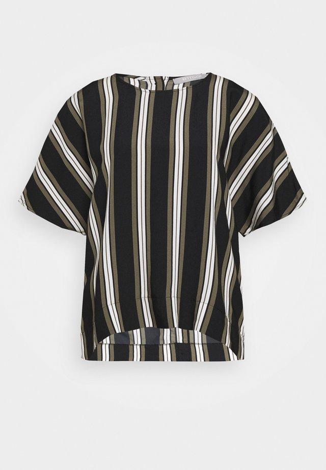 Camicetta - khaki/black