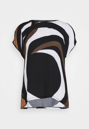 MASSTAB - Bluser - black/cream
