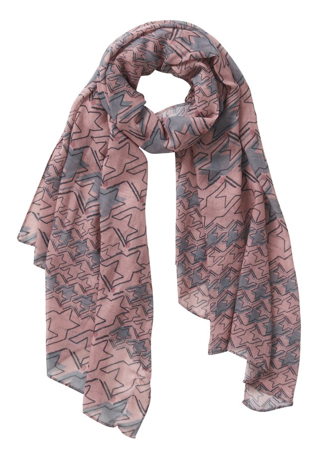 MIT PRINT - Scarf - rosé/grey