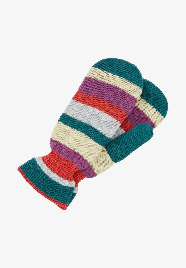EMERALD LOVELY STRIPES MITTENS - Lapaset - petrol