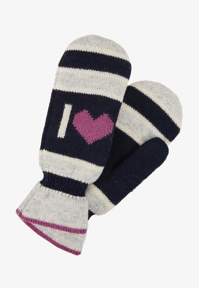 EMERALD LOVE MITTENS - Lapaset - light grey melange