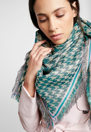 ESTHER HOUNDSTOOTH SCARF - Halsdoek - darkest green