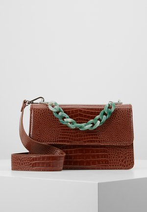 BRIGHT MAYA BAG - Across body bag - brown sugar