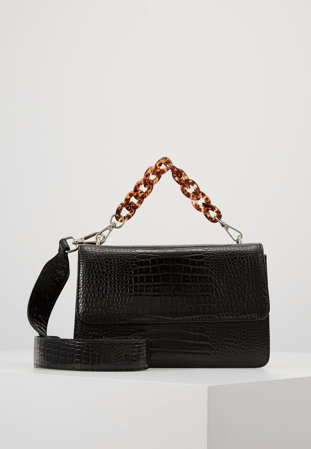 BRIGHT MAYA BAG TURTLE HANDLE - Håndveske - black