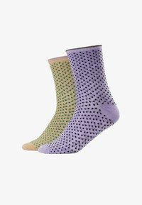 Becksöndergaard - DINA SMALL DOTS GLITTER 2 PACK - Socken - sweet lavender/verdant green - 1