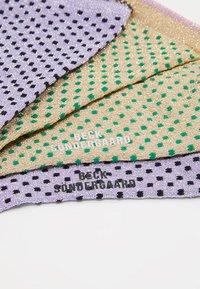 Becksöndergaard - DINA SMALL DOTS GLITTER 2 PACK - Socken - sweet lavender/verdant green - 2