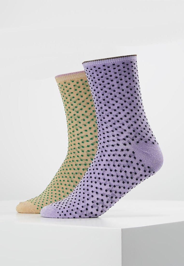 Becksöndergaard - DINA SMALL DOTS GLITTER 2 PACK - Socken - sweet lavender/verdant green