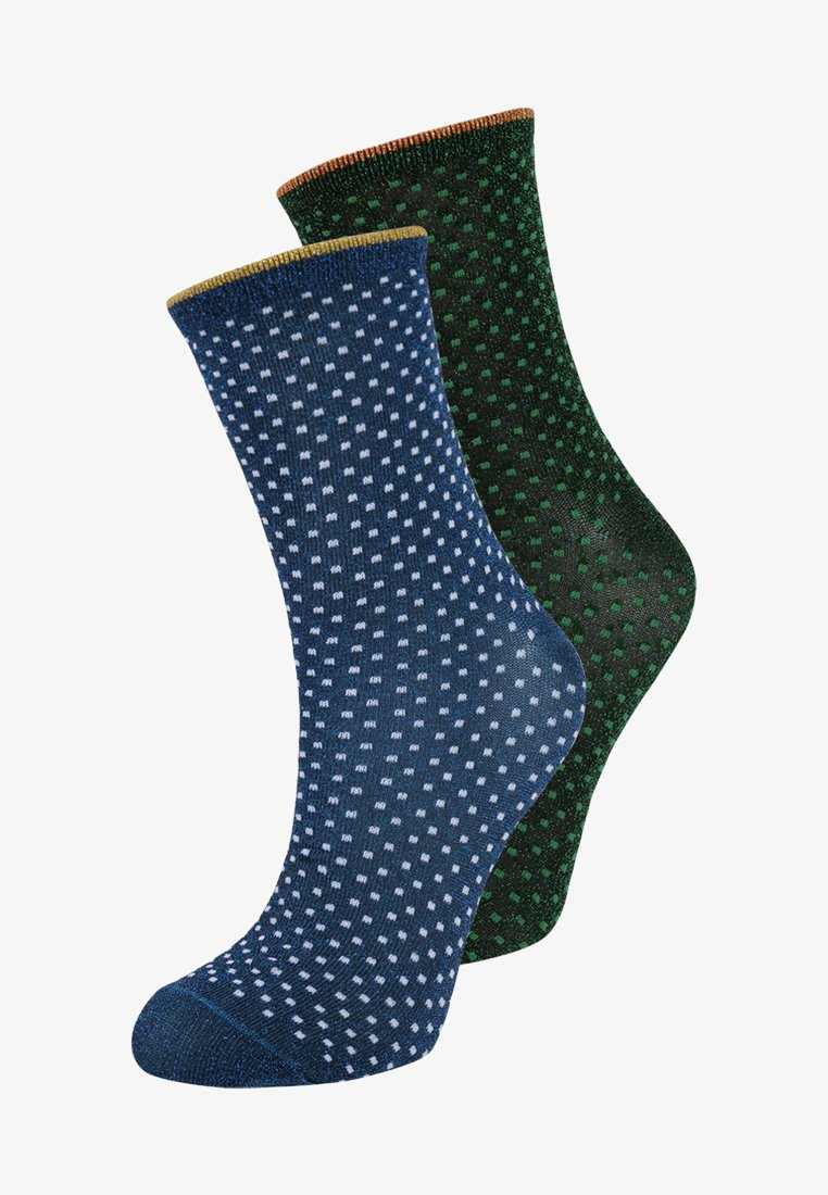 Becksöndergaard - DINA SMALL DOTS GLITTER 2 PACK - Socken - twilight blue/botanical garden