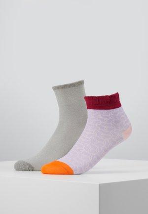 POPPY SIBIA SOCK DINA SOLID 2 PACK - Socken - lavender/light grey