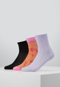 Becksöndergaard - POP SORA SOCK_GLITTER DRAKE SOCK_DINA SOLID - Socken - blue/lavender/black - 0