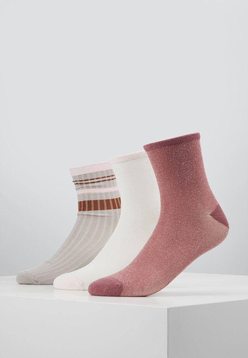 Becksöndergaard - SPORTY RAINBIRD SOCK DINA SOLID 3 PACK - Socken - rose/white/mauve