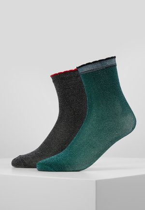 DARLA 2 PACK - Chaussettes - black/darkest green