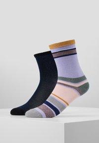 Becksöndergaard - DINA SOLID ROSELLA DALEA SOCK 2 PACK - Socken - blue/purple - 0