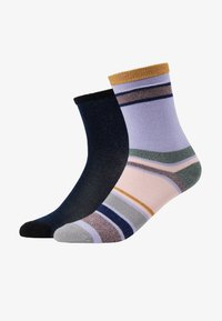 Becksöndergaard - DINA SOLID ROSELLA DALEA SOCK 2 PACK - Socken - blue/purple - 1