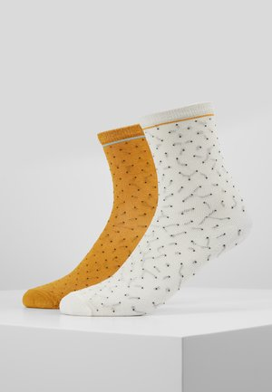 DARSI SHINY 2 PACK - Socks - off white/golden yellow