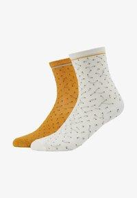 Becksöndergaard - DARSI SHINY 2 PACK - Socken - off white/golden yellow - 2