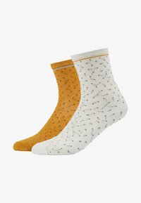 Becksöndergaard - DARSI SHINY 2 PACK - Sokken - off white/golden yellow - 1