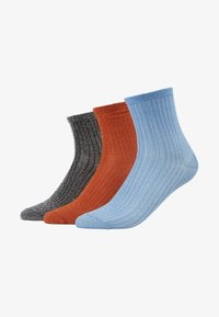 Becksöndergaard - DINA 3 PACK - Calcetines - russet orange/light blue/silver - 1