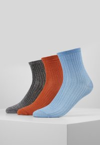 Becksöndergaard - DINA 3 PACK - Calcetines - russet orange/light blue/silver - 0