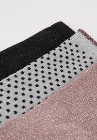 Becksöndergaard - DINA SOLID SMALL 3 PACK - Socken - black/wistful mauve/grey melange - 2
