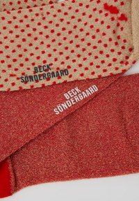 Becksöndergaard - DINA SOLID DINA SMALL DOTS 2 PACK - Socken - red love - 2