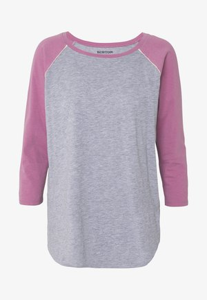 CARATUNK RAGLAN - T-shirt à manches longues - gray heather/rosebud