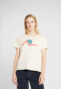 Burton - WOMENS CLASSIC RETRO SHORT SLEEVE - T-shirts med print - creme brulee - 0