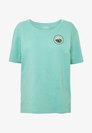 WOMENS ASHMORE SHORT SLEEVE SCOOP - Camiseta estampada - buoy blue