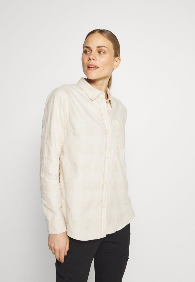 GRACE LONG SLEEVE - Skjorte - creme heather buff
