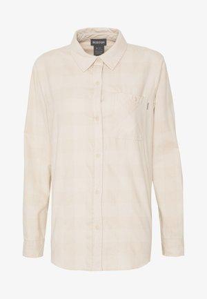 GRACE LONG SLEEVE - Button-down blouse - creme heather buff
