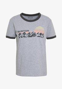 Burton - WOMENS TIMKEY SHORT SLEEVE - T-shirts med print - gray heather - 3