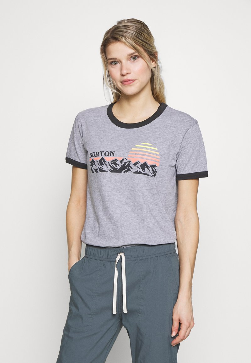 Burton - WOMENS TIMKEY SHORT SLEEVE - T-shirts med print - gray heather