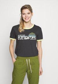 Burton - WOMENS TIMKEY SHORT SLEEVE - Print T-shirt - phantom - 0