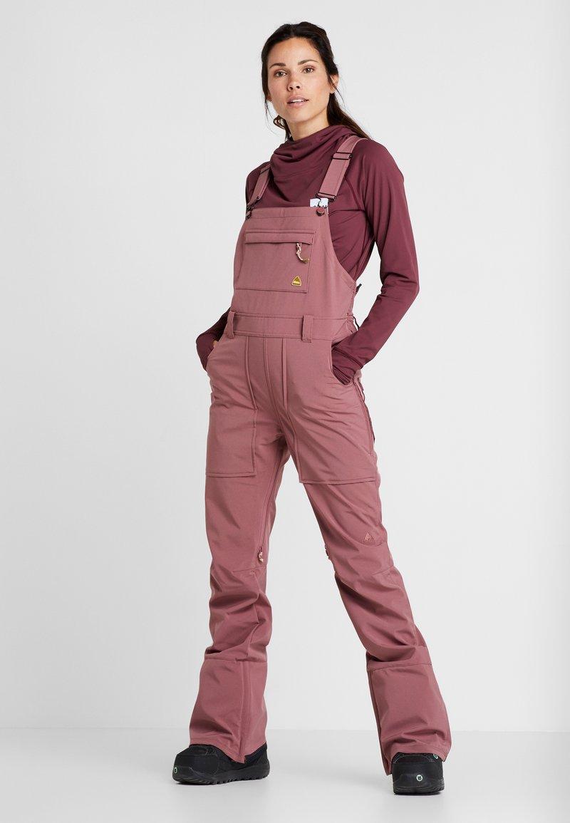 Burton - AVALON BIB - Zimní kalhoty - rose brown