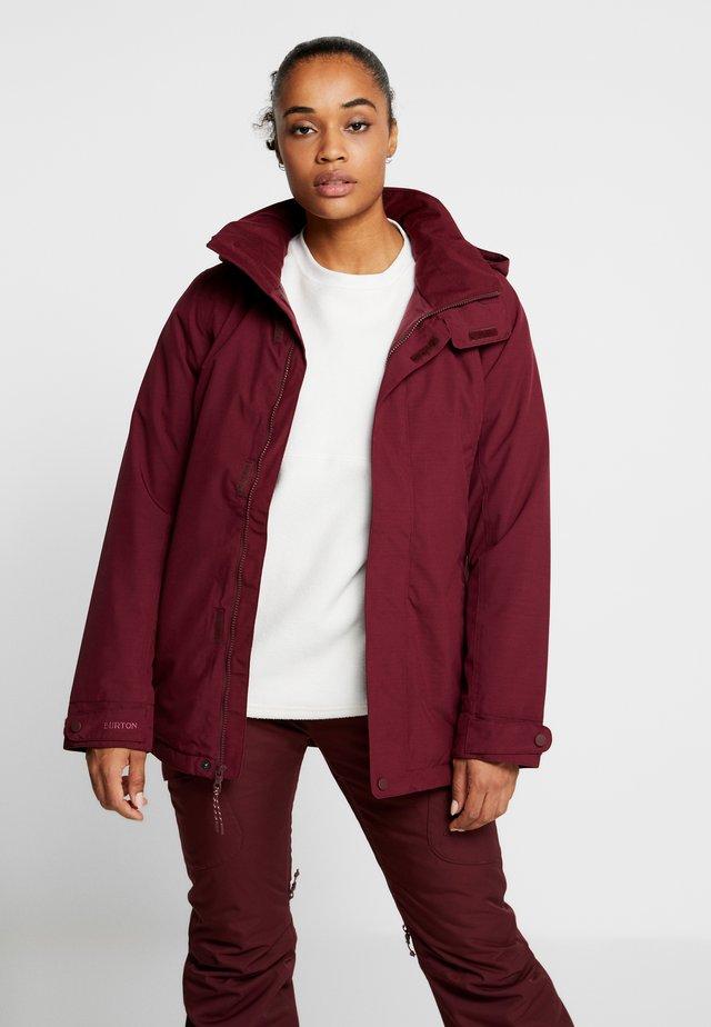 JET SET - Snowboard jacket - sangria