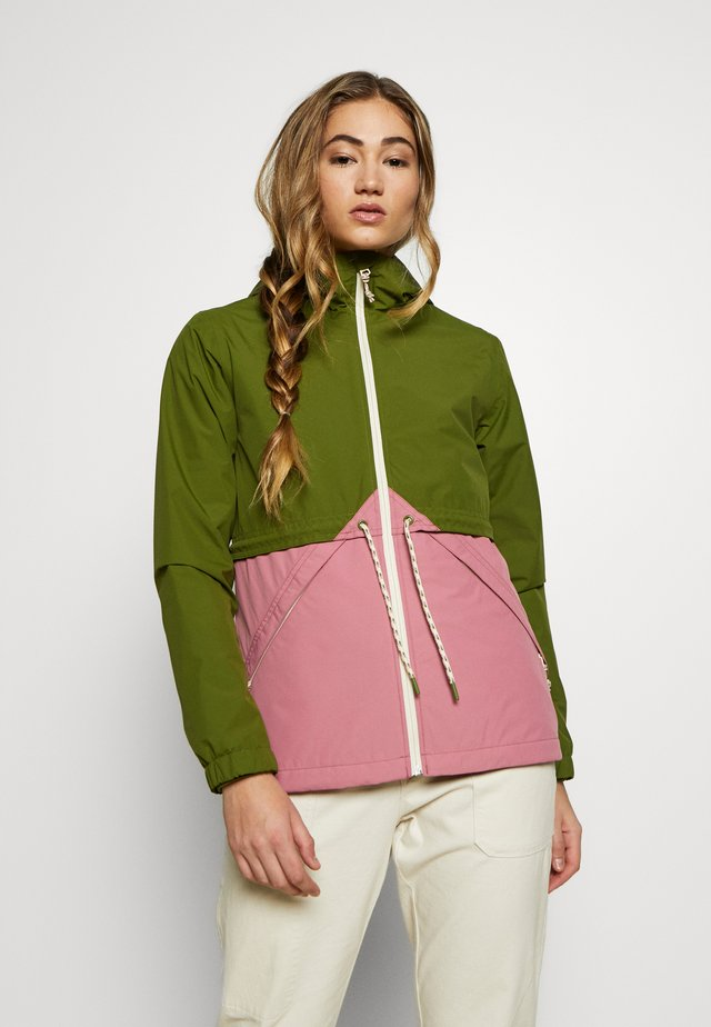 WOMEN'S NARRAWAY JACKET - Vodotěsná bunda - pesto green/rosebud