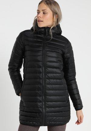 EVERGREEN LONG DOWN - Kabát zprachového peří - true black