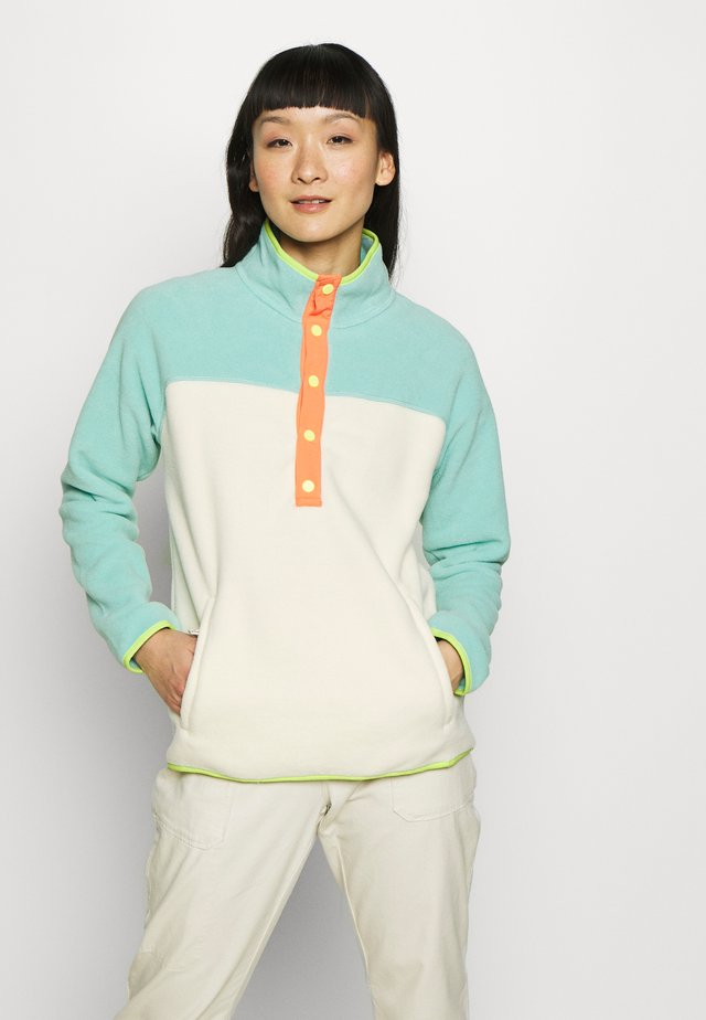 WOMEN'S HEARTH - Fleecepullover - buoy blue/creme brulee