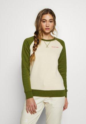 KEELER CREW - Sweatshirt - creme brulee/pesto green
